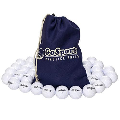 GoSports Allzweck-Golfbälle zum Spielen oder Üben | 32 Stück mit Tragetasche