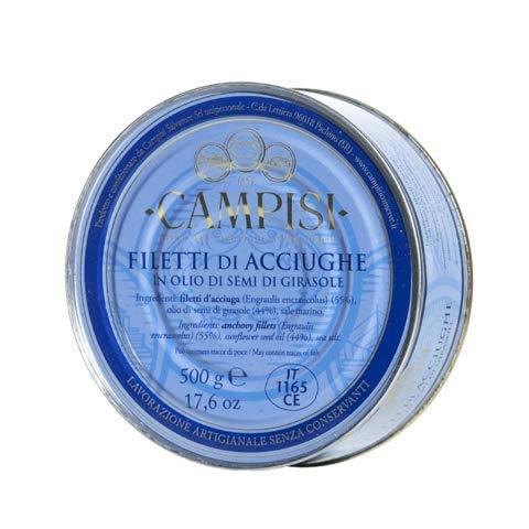 Campisi - Filetti di Acciughe Sott'olio Lavorati a Mano 500 g