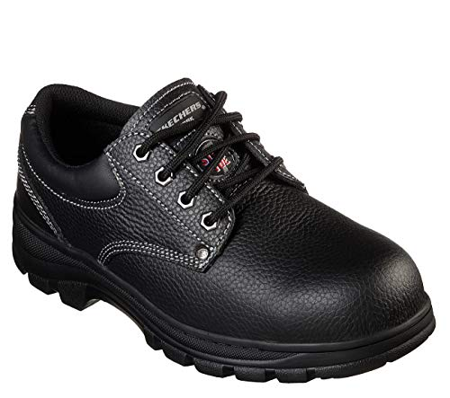 Skechers Work Workshire Tydfil ST Steel Toe Mens Oxfords Black 10.5