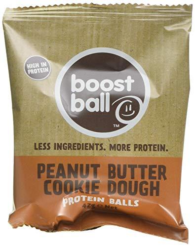 Boostball Protein Balls, High Protein, Gluten Free, Protein Bar Alternative - Peanut Butter Cookie Dough Flavour, Pack of 12 x 42g