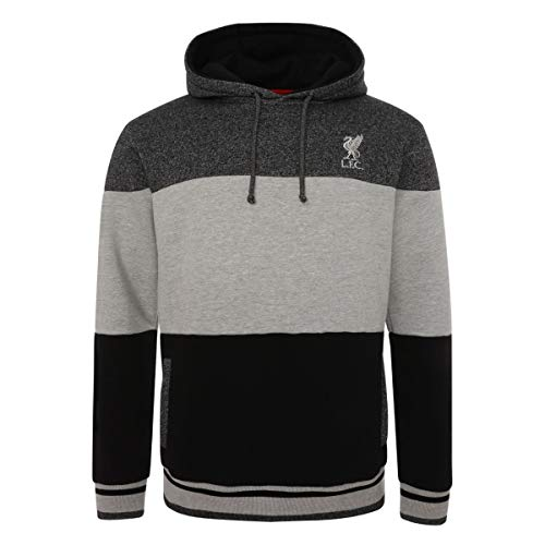 FC Liverpool Colour Block Hoody (XL, Black/Grey)