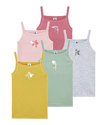 Petit Bateau Lot X5 Cab Camiseta de Tirantes, Multicolor (Variante 1 00), 3 años (Tamaño del Fabricante:3A) (Pack de 5) para Niñas