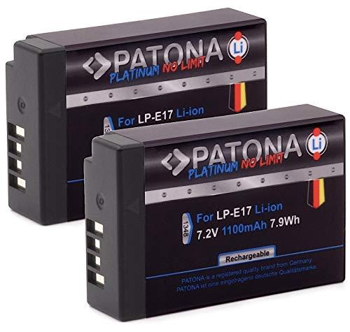 PATONA (2X) Platinum Akku LP-E17 (echte 1100mAh) - voll kompatibel, ohne Verwendungseinschränkung