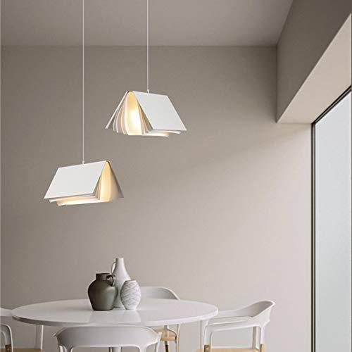 1 lámpara de plafón colgante dormitorio diseño de libro moderno luz de lectura comedor blanco creativa lámpara de araña para sala de estar cocina cafetería bar niños candelabro decoración ajustable