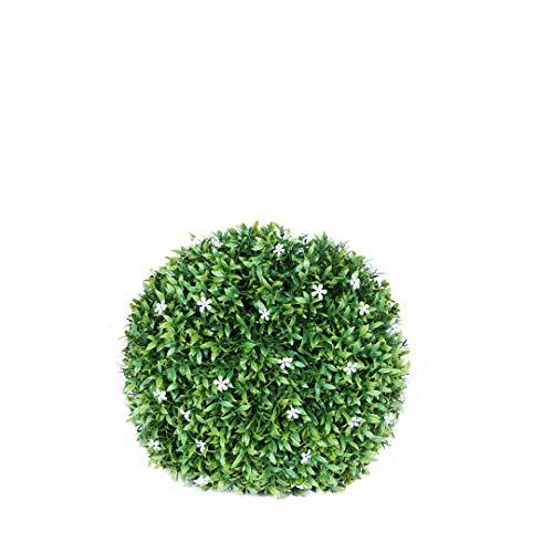 Catral 72050020Sfera Decorativa Jazmin, Verde/Bianco, 28cm