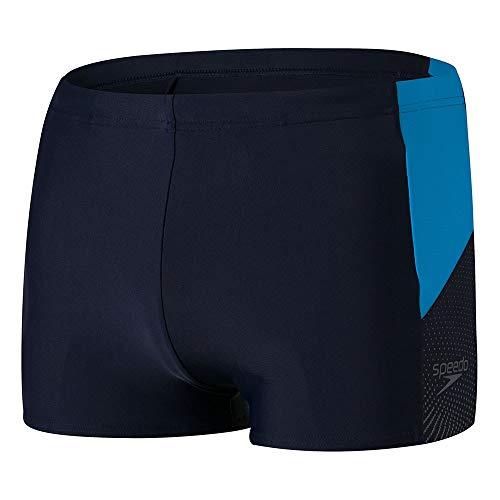 Speedo Dive Aquashort Am Bañador, Hombre, True Navy/Pool/Oxid Grey, 34
