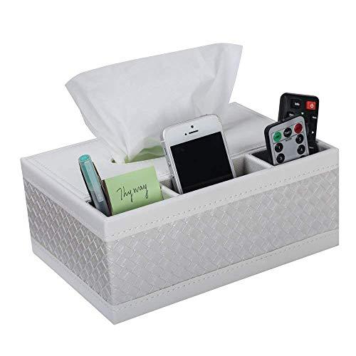 YUXIwang Toilet Paper Holder Multifunción de Cuero PU lápiz de la Pluma Tejido de Control Remoto Caja de la Cubierta del sostenedor Escritorio Caja de Almacenamiento de contenedores for el hogar y la