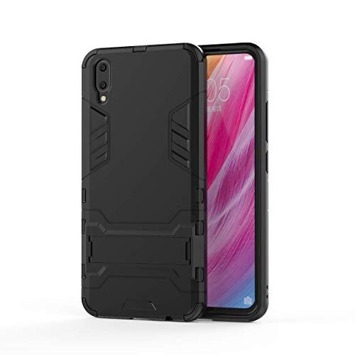 VIVO V11 Hülle, SsHhUu Stoßsichere Dual Layer Hybrid Tasche Schutzhülle mit Ständer für VIVO V11 / V11 Pro 2018 (6.41 Zoll) Black