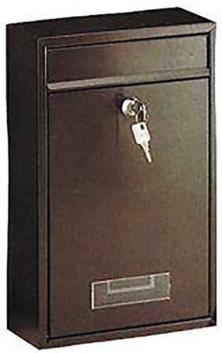 Rottner brievenbus Tarvis antraciet, stalen brievenbus mailbox, postbus, kleine brievenbus, naamplaatje