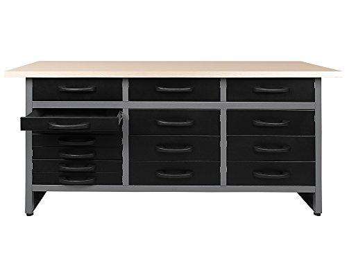 Ondis24 Werkbank Werktisch Packtisch 15 Schubladen Werkstatteinrichtung 170 x 60 cm Arbeitshöhe: 85 cm - 2