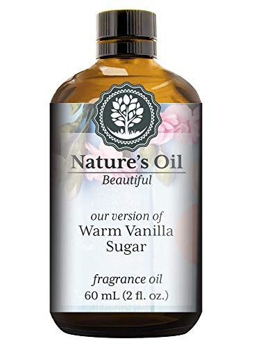 Warm Vanilla Sugar Fragrance Oil (60ml) For Perfume, Diffusers, Soap Making, Candles, Lotion, Home Scents, Linen Spray, Bath Bombs, Slime
