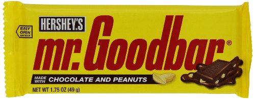MR GOODBAR Chocolate Candy Bar with Peanuts, 1.75 Ounce (Pack of 36)