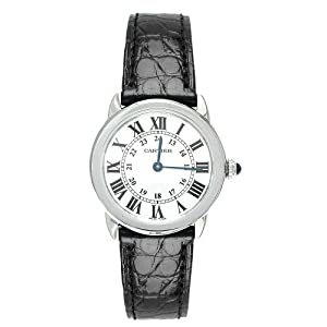 Cartier Women's W6700155 Ronde Solo Black Leather Watch Sale and Order Now!! and review image