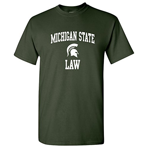 MSU-738 - Michigan State Spartans Arch Logo Law T-Shirt - Large - Forest