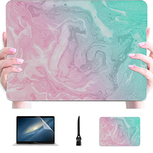 13inch Macbook Pro Case Abstract Texture Pastel Colours Marble Plastic Hard Shell Compatible Mac Air 13' Pro 13'/16' Macbook Pro 15 Cover Protective Cover For Macbook 2016-2020 Version