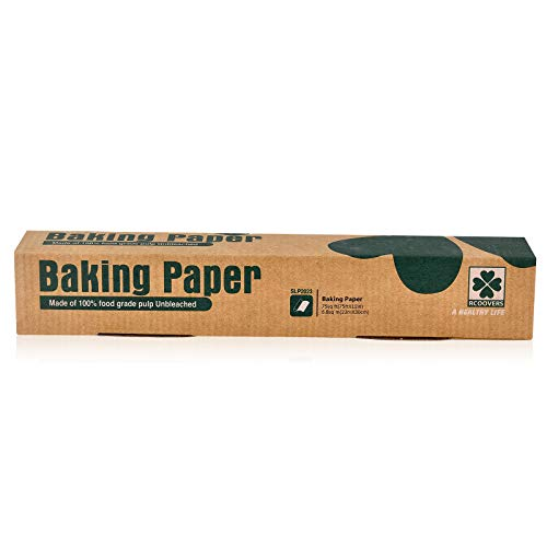 Parchment Paper Roll 75Sq.Ft Unbleached Non-stick Baking Paper Roll Perfectly Useful and Comfortable for Baking Cookies Pizzas And Microwave Ovens Size: 12in X 75ft