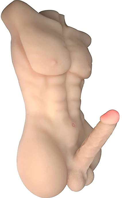 Half the silicone doll with large breasts Amazon Com Selani Silicone Skin Sex Doll Male Body Torso For Women 3d Realistic Male Dildo Health Household
