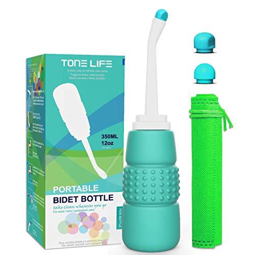 TONELIFE Peri Momwasher Bidet für Toilette, tragbar, 350 ml, für Reisen, Camping, Frauen, Postpartale Pflege, Erholung nach Operationen, Mütter, Neugeborene und ältere Menschen