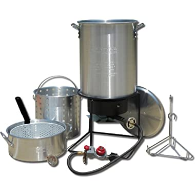 King Kooker 1265BF3 Portable Propane Outdoor Deep Frying/Boiling Package with 2 Aluminum Pots