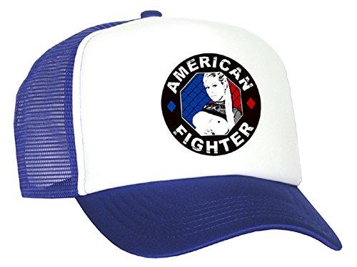 Tedd Haze – Casquette en maille American Fighter en rouge, noir ou bleu - Bleu - Taille Unique