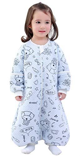 Happy Cherry - Saco de Dormir de Algodón para Bebé Niños Infantil Pijama Entero Transpirable Caliente para Otoño Invierno 1-2.5 TOG - 3-5 Años