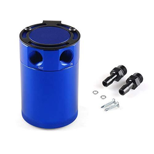 GHDBHFD Cattura Olio Universale può Compact Baffled 2 Porte in Alluminio Serbatoio dell\'olio Fermo Foro Serbatoio Carburante Serbatoio Parti seconda Traspirante bollitore (Color : Blue)