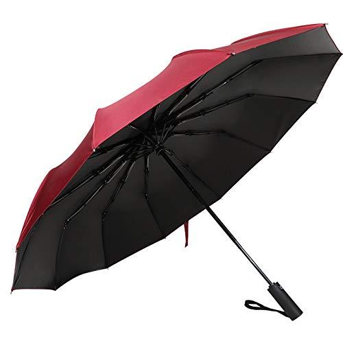 Direktverkaufsstelle einfarbige Regenschirme 12 Knochen Vollautomatischer dreifacher Regenschirm Regenschirm Werbegeschenk Regenschirm Custom Großhandel