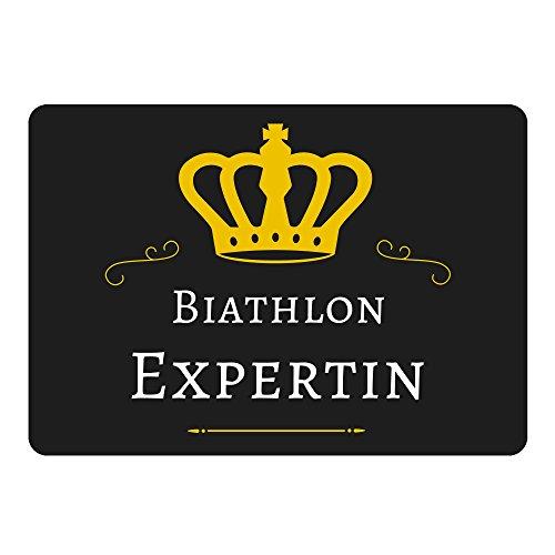Multifanshop Mousepad Biathlon Expertin schwarz