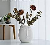 DECORACION FHW Flor de cerámica Jarrón para el hogar Adornos Nórdico Geométrico Flor Arreglo Salón Muebles (Color : 7)