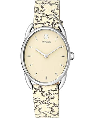 TOUS Reloj Mujer DAI SS ESF Beige, Cor PVC/Piel Kaos BEIG - Ref 100350435