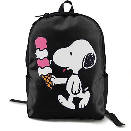 N / A Snoopy Paket Klassischer Rucksack Schultasche Schwarze Tasche Arbeitsreise Zur Polyester Unisex Schule