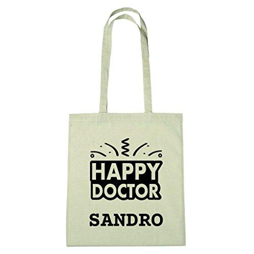 JOllify katoenen tas afsluiting cadeau voor SANDRO BHD5901 Happy Doctor