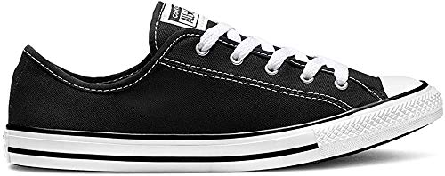 Converse Chuck Taylor All Star Dainty Low Ox Sneaker Damen schwarz/weiß, 9.5 US - 41 EU - 7 UK