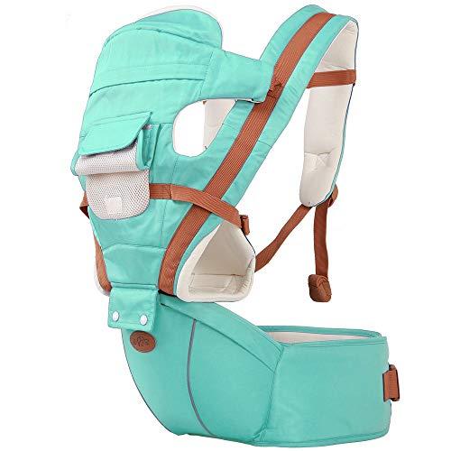 TINERS Sling para bebé, Asiento Multifuncional Mochila ergonómica para bebé 3-36 Meses Four Seasons Baby Artifact,Green
