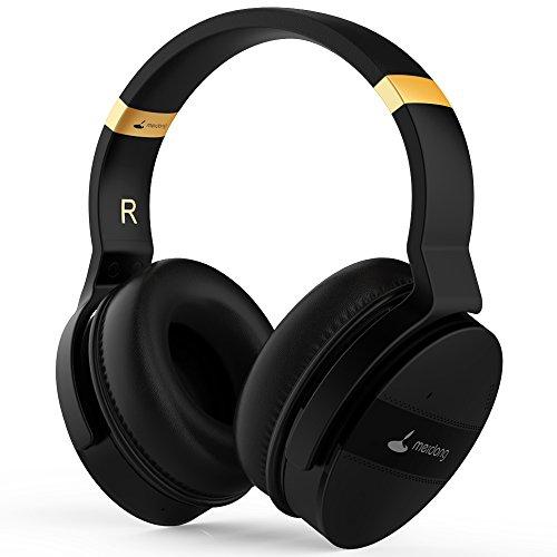 Meidong Casque Réduction de Bruit Active Noise Cancelling Headphones Bluetooth HiFi Stereo Deep Bass Casque sans Fil avec Microphone Coussins Détachables 20 Heures