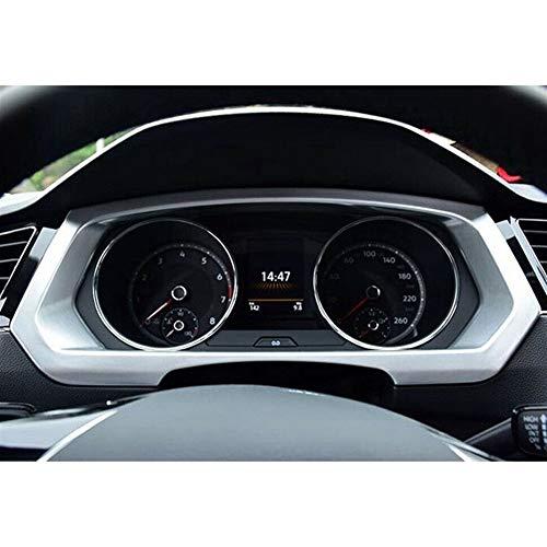 XIANGBAO QI Frame ABS de Plata del Tablero de Instrumentos Ajuste Decorativo Marco del Panel Dash Ajuste Cubierta para-Tiguan 2017-2019