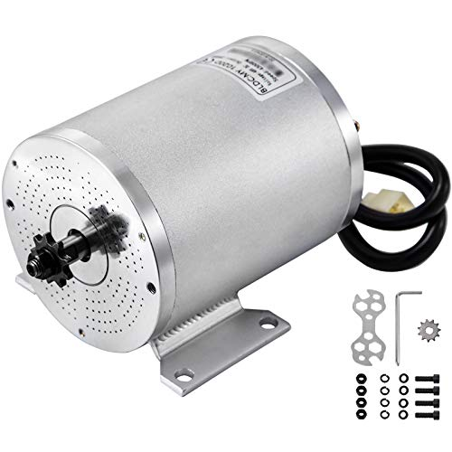 BestEquip 2000W 48V Electric Brushless DC Motor 4300RPM 42A Brushless Motor with Mounting Bracket for Go Karts E-Bike Electric Throttle Motorcycle Scooter and More