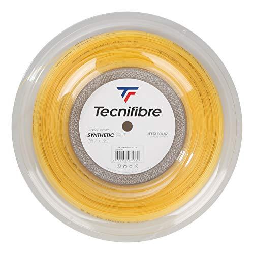 Tecnifibre Synthetic Gut 200M Tennis Rotolo di Corde Multifilamento Giallo 1,25