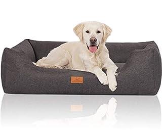 Abnehmbarer Bezug, waschbar bei 30 Grad Seperat erhätliche Ersatzbezüge Hundebett aus robustem Velour ÖKO-TEX Standart 100 Formstabil