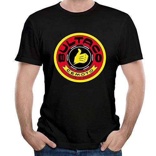 WEIQIQQ Hombre Bultaco Red Logo Gift Short Sleeved Camiseta/T-Shirt