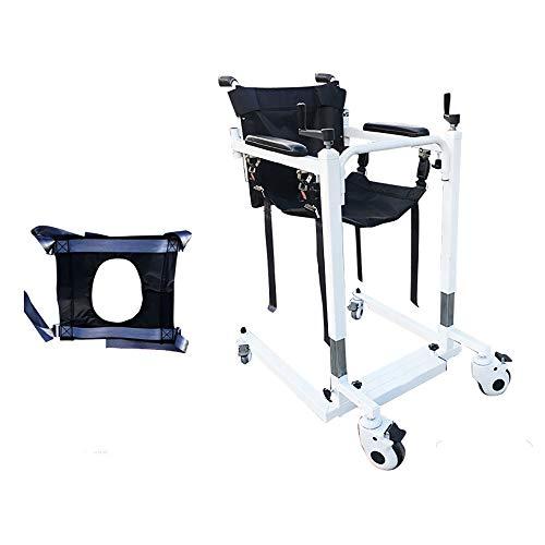 Elevador de pacientes manual de servicio pesado, elevador para discapacitados Elevador multifuncional Productos para el cuidado de ancianos paralizados postrados en cama Asiento de baño para el hoga
