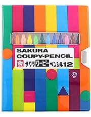サクラクレパス 色鉛筆 クーピー 12色 ソフトケース入り FY12-R1