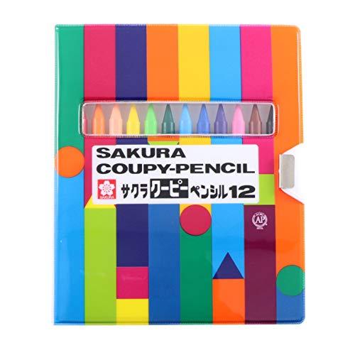 1 X Sakura Coupy Pencil 12 Colors Soft Case FY12-R1
