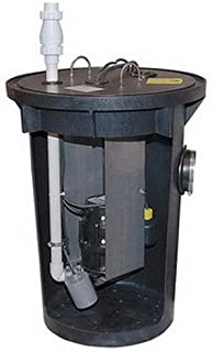 Zoeller 915-0005 1/2 HP The Shark Residential Sewage Grinder System with 18-Inch Basin