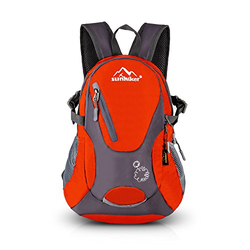 Cycling Hiking Backpack Sunhiker Water Resistant Travel Backpack Lightweight SMALL Daypack M0714 (red)