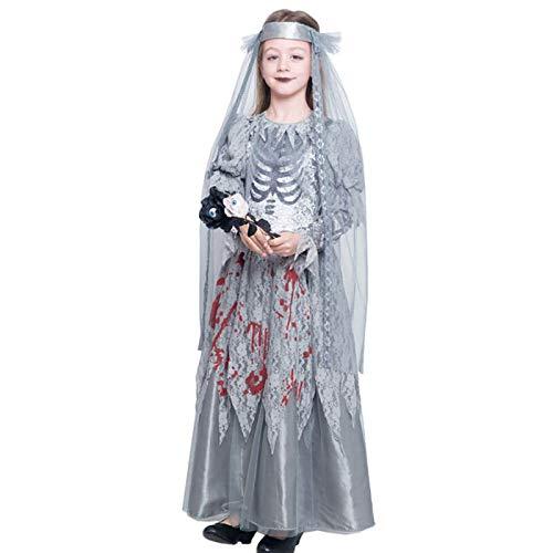 Disfraz Novia Cadáver Sangrienta para Niña Halloween (7-9 años) (+Tallas)