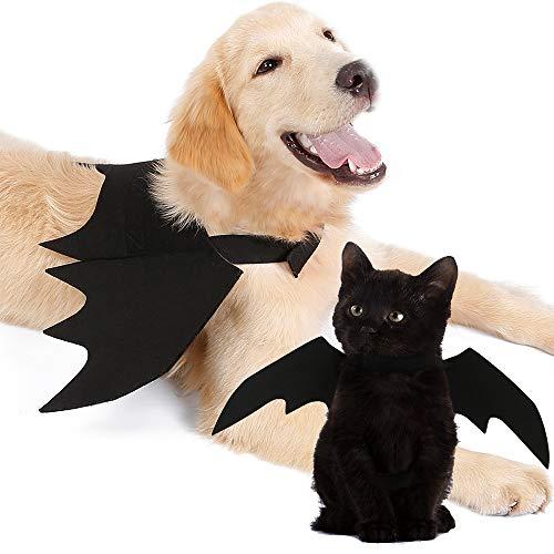 TFENG Halloween Requisiten Haustier Hund Katze Fledermaus Kostüm Flügel Cosplay Prop Halloween Vampir Fledermaus Kostüm Outfit Flügel