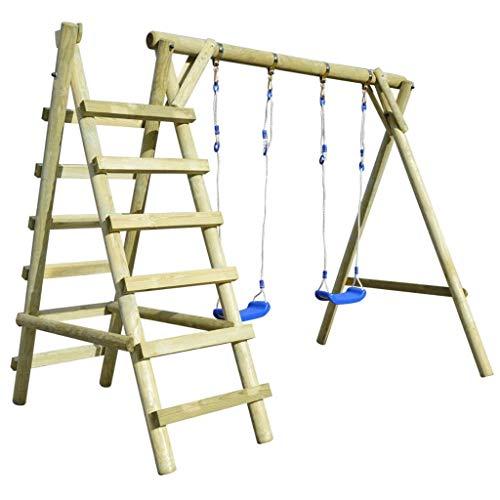 vidaXL Schommelset met Ladders Schommel Buitenspeelgoed Spelen Tuin Grenenhout
