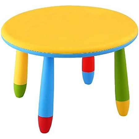 Sedia per bambini 31 x 30 x 67 cm giallo Mueblear 90051 in plastica