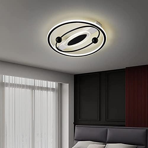 Lámpara de techo regulable con mando a distancia para dormitorio, LED, lámpara de techo, para comedor, cocina, salón, iluminación de techo, 45 cm, color dorado